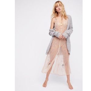 Free people vested in you slip dress